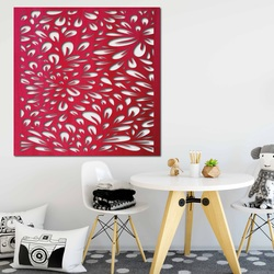 Cioplit imagine pe perete din placaj din lemn  floare HORLILG