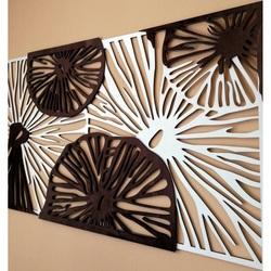 Imagine sculptată pe peretele de placaj din lemn plop original / maro POTONSFE