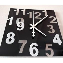 Ceasuri de perete moderne - Numere de culori, Culoare: Negru, Alb