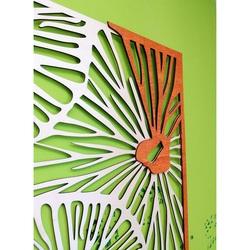 Imagine sculptată pe  placaj de lemn culoare lemn plop original / portocaliu ALICE