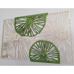Imagine sculptată din lemn de placaj din lemn plop original, verde a doua culoare KIWIKI