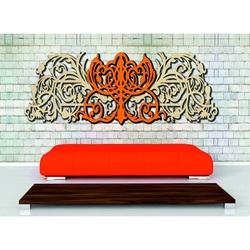 3D Imagine sculptată din partea din spate a placajului din lemn Plop original, culoarea părții din față la alegere