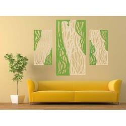 Imagine minunată pe peretele placajului de lemn FLORALIS partea din spate Plop original, culoarea părții din față la alegere