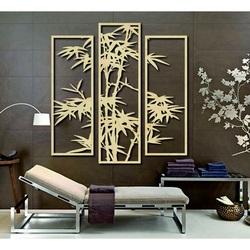 Imagine exclusivă pe perete sculptat dintr-un placaj de palmier din lemn TROPY