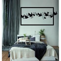 O imagine atrăgătoare pe perete Păsări de placaj din lemn sculptat SKY