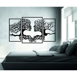 Poză pompoasă pe perete fețe și copaci