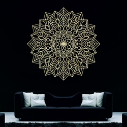 Wooden painting on the wall flower of joy I carved mandala from plywood