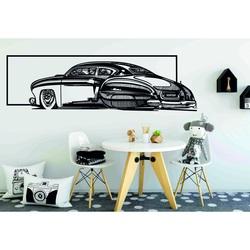 Nostalgický dřevěný obraz na stěnu auto vyřezávané z překližky