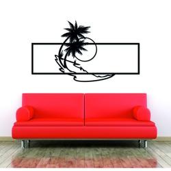 Pictura moderna pe peretele unui palmier realizat din placaj din lemn