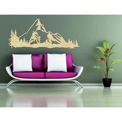 Imaginea munților pe peretele placajului naturii