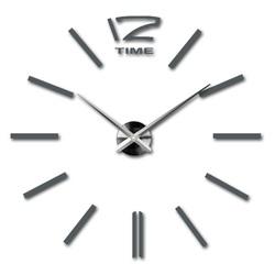 Moderné nástenné hodiny šedá kovová