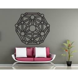Tablou geometric pe peretele sculptat din placaj din lemn