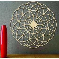 Mandala din lemn magic pentru perete - Cercuri I diametru FI 50, 60, 70, 80, 90, cm