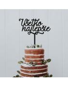 Umpluturi ornamentale pentru prăjituri. La cerere, putem realiza decoratiuni de alte culori si dimensiuni.